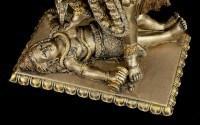 Hinduistische Götter Figur - Kali mit Dreizack und Kopf