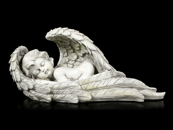 Angel Garden Figurine - Boy sleeps in Wings