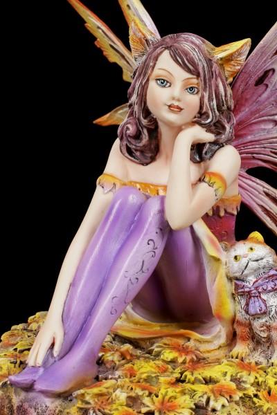 Fairy Figurine - Catfairy Tabby with little Cat