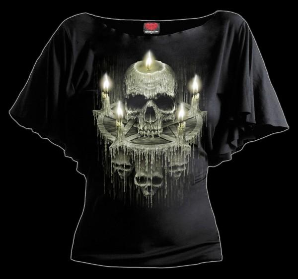 Damen Totenkopf Shirt - Waxed Skull