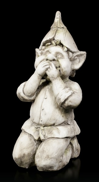 Troll Garden Figurine - Keeps his Mouth closed