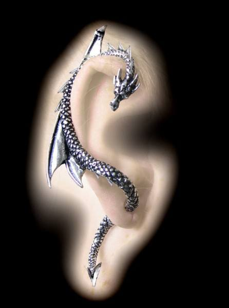 Alchemy Gothic Ohrring - The Dragon's Lure rechts