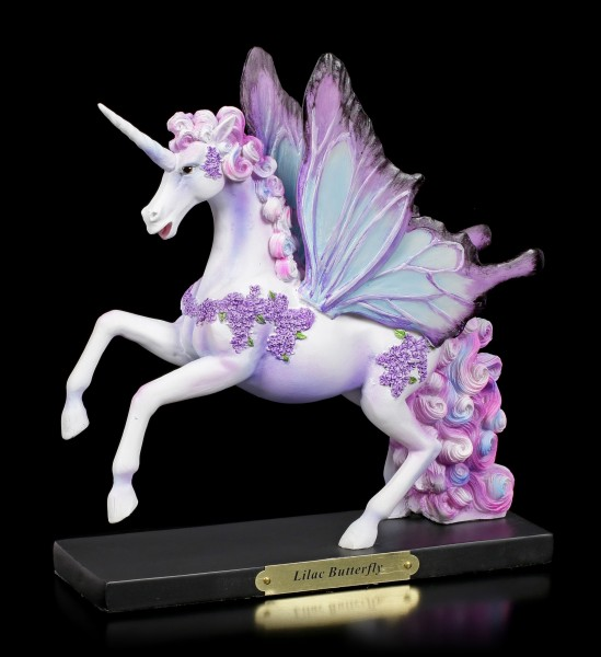 Unicorn Figurine - Lilac Butterfly