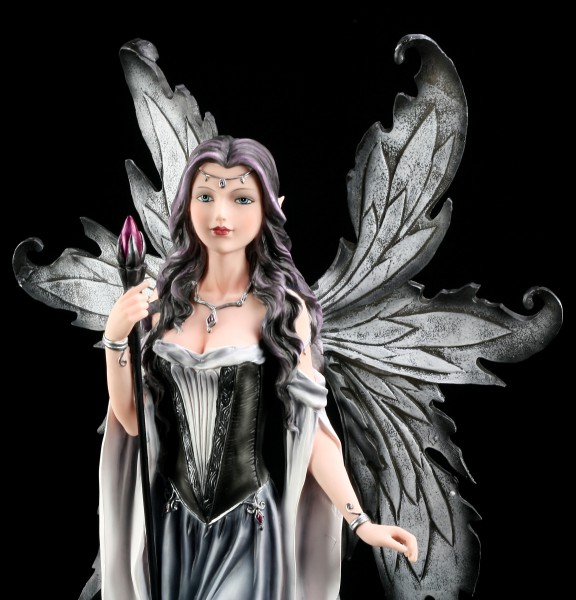 Large Fairy Figurine with Wand and Dragon