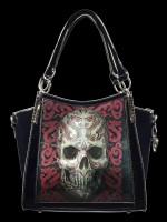 Lack Handtasche mit 3D Motiv - Oriental Skull