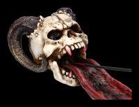 Incense Burner - Ram Horned Skull
