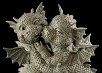 Garden Figurine - Kissing Dragon Couple