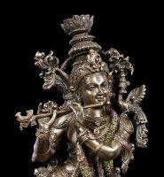 Krishna Figur mit Bambusflöte Bansuri