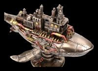 Steampunk Figurine - Whale with Colony