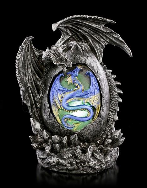 Drachen Figur - Sehab auf Ei mit LED