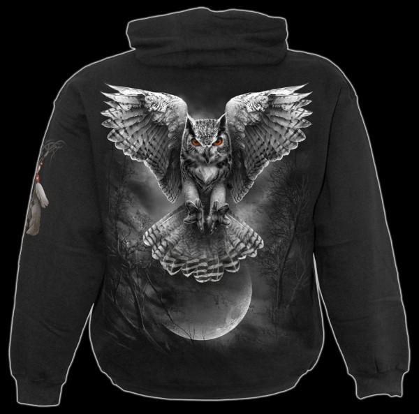 Kapuzenpullover Gothic Eule - Wings Of Wisdom