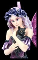 Fairy Figurine - Reyna kneeling with Cat