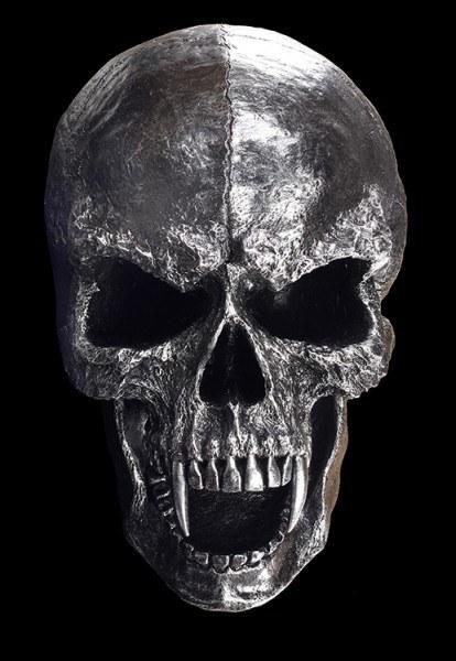 Wandrelief - Großer Vampir Totenkopf