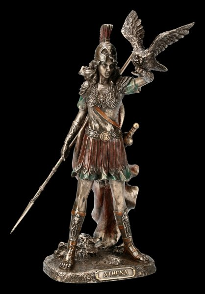 Athena Figurine - With Spear and Owl