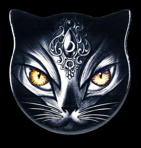 Untersetzer Katzenkopf - Scared Cat