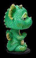 Bobble Head Figurine - Green Yoga Dragon