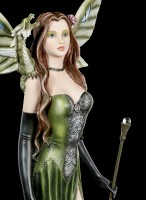Fairy Figurine - Lesandra with Scepter and Dragon