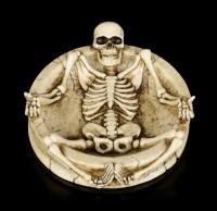 Ashtray with Skeleton