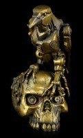 Steampunk Figur - Rabe auf Totenkopf