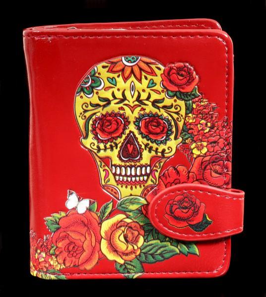 Kleine Geldbörse mit Totenkopf - Candy Rose