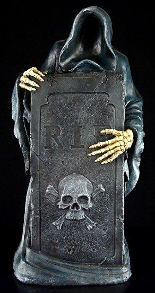Vater Tod mit Grabstein - groß