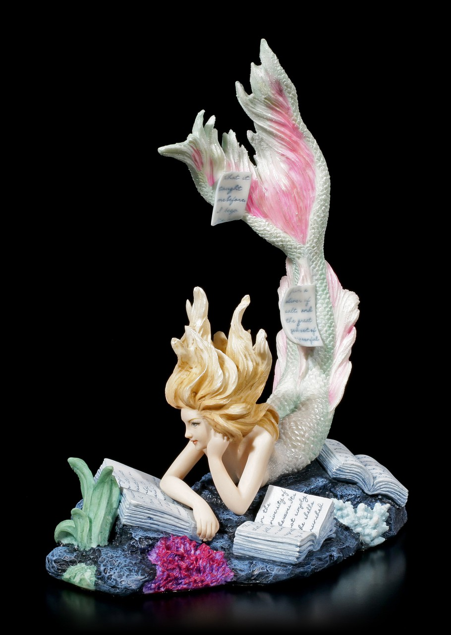 Meerjungfrauen Figur liest alte Schriften - Lost Books