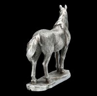 Standing Horse - Antique Silver