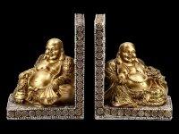 Buchstützen - Happy Buddha