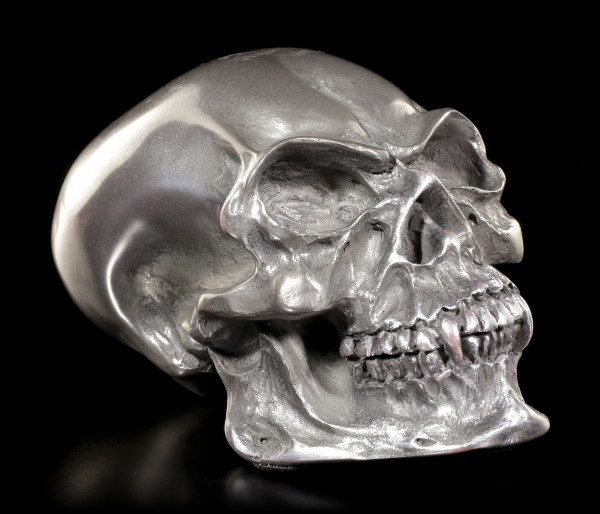 Kleiner Vampir Totenkopf in Gun Metal Finish