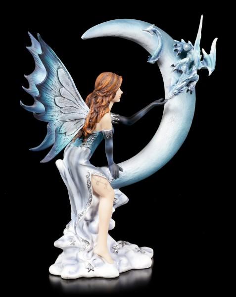 Elfen Figur - Lunazura auf Mondsichel