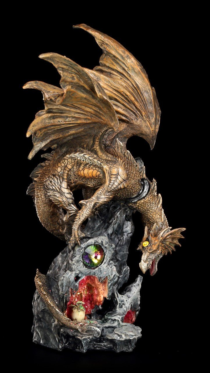 Dragon Figurine with LED - Scorch guarded Young