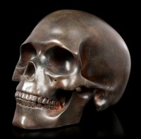 Menschlicher Totenkopf - rostfarben