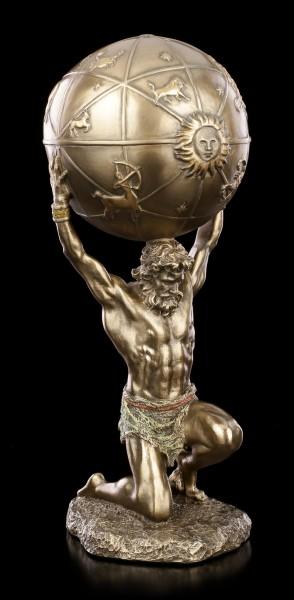 Atlas Figurine with Globe on Back
