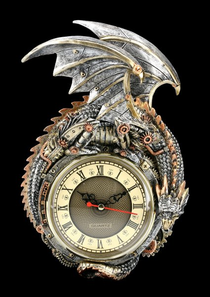 Wall Clock Steampunk Dragon - Clockwork Combustor