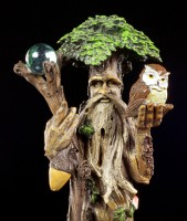 Forest Spirit Figurine - Standing with Owl