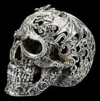 Totenkopf - Cranial Drakos - silber
