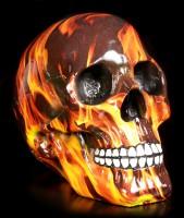 Bunter Totenkopf mit Flammen - Inferno