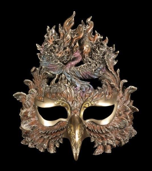 Venezianische Maske - Phönix erhebt sich aus Feuer