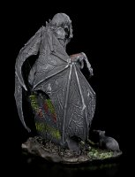 Graveyard Vampire Figurine on Tombstone