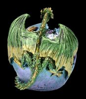 Drachenfigur mit LED - Crevice Keeper grün