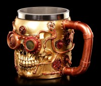 Steampunk Tankard - Mechanic Skull