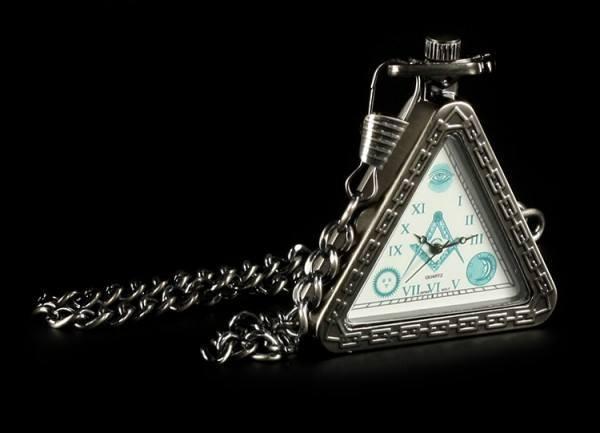 Taschenuhr - Freimaurer Dreieckig Silberfarben