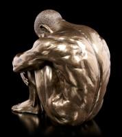 Male Nude Figurine - Sitting on the Ground - large