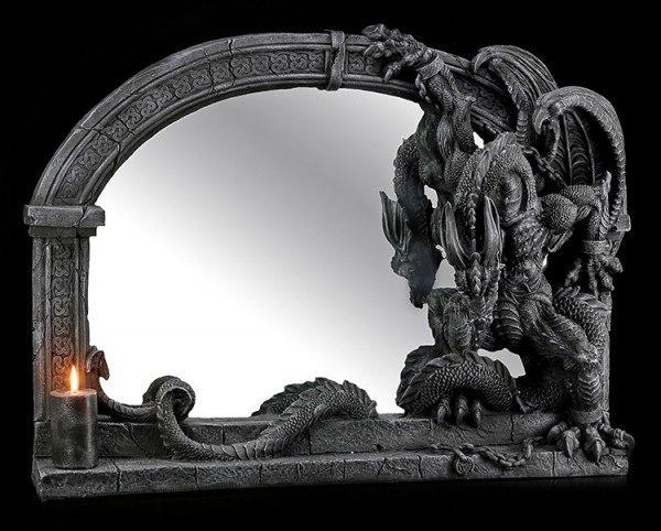 Drachen - Wandspiegel groß