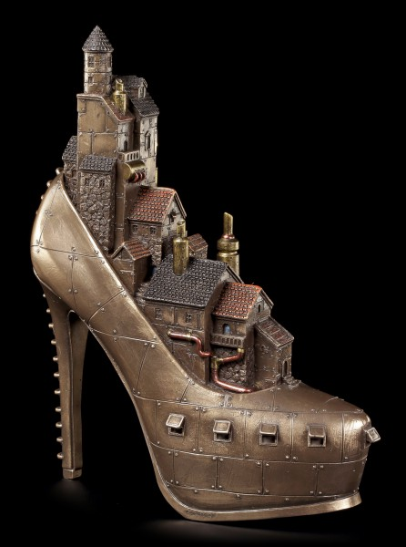 Steampunk Shoe - Village in High Heel