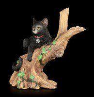 Hexen Katze - Onyx auf Baum