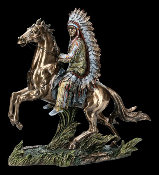 Indianer Figur - Sitting Bull reitend