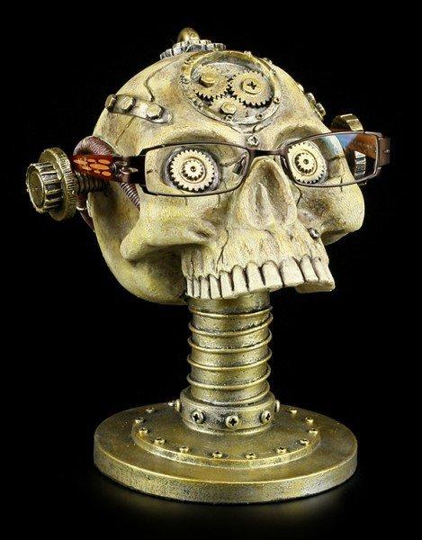 Brillenhalter - Steampunk Totenkopf