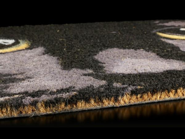 Fantasy Fußmatte - Schwarze Katze