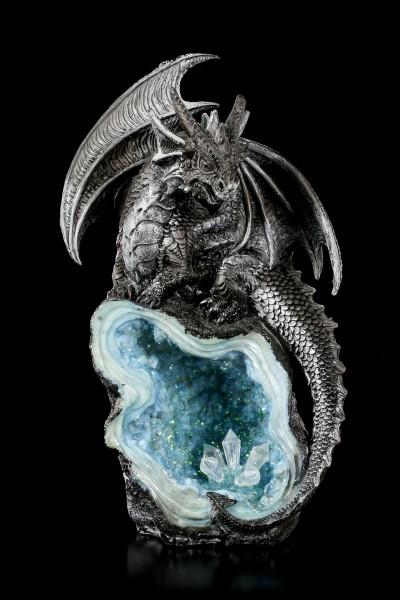 Dragon Figurines on Crystals - Set of 4